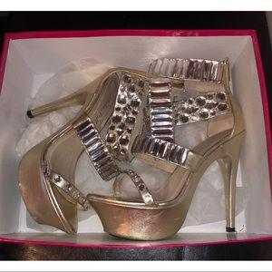 Alisha Hill crystal heels Olivia platform sandal